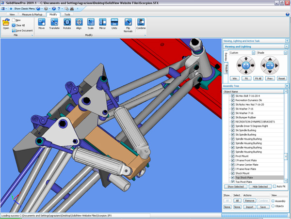 Software to view and translate cad files solidview software for Project drawing software
